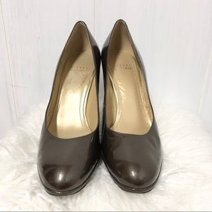Stuart Weitzman Bronze Patent Leather Pumps
